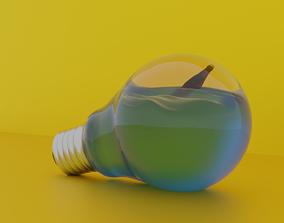 3D model Creative Decoration with Light Bulb