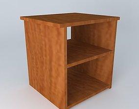 Bedside table 3D model cube