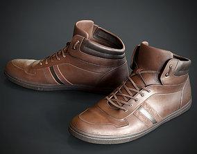 3D model PBR Leather shoes