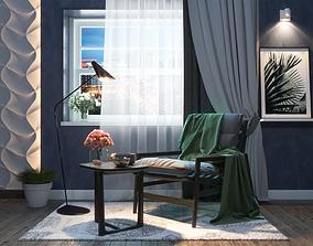 decoration Studio apartment interior scene 3D
