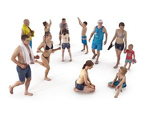 Beach Collection x12 3D asset