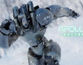3D model Low Poly Robot - Apollo