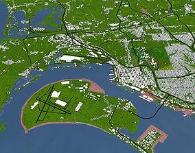 3D asset San Diego City of USA