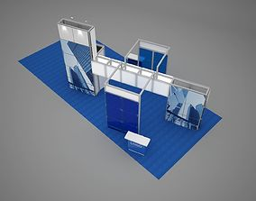 3D model Exhibition stand octanorm maxima 14x6 m