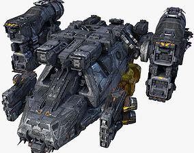 SciFi Cargoship 3D