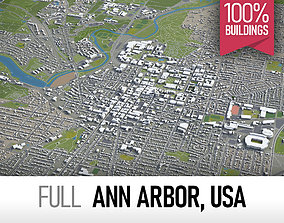 3D model realtime Ann Arbor - city and surroundings
