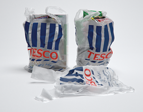 3D model Shopping Grocery Bags