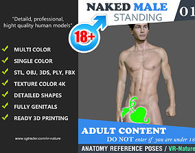 Naked Male 001 Multi color 3D Printing 180323