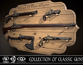 Collection of classic guns 3D model