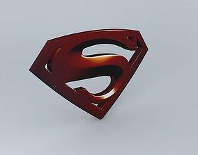 3D model Superman Logo