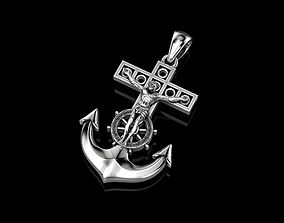 Cross Anchor and Steering Wheel cross 3D print model