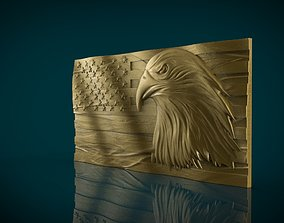 American Flag and Eagle stl 3D print model
