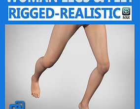 3D model rigged Adult Female Legs and Feet