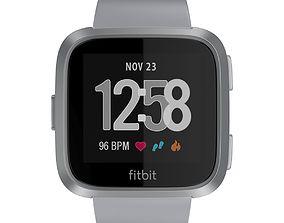 3D Fitbit Versa Silver