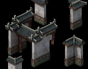 3D Tang Courtyard - fence - wicket 01