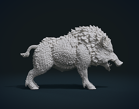 hog 3D print model Wild Boar in static pose