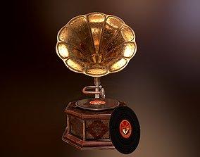 Gramophone Antique Model 3D asset