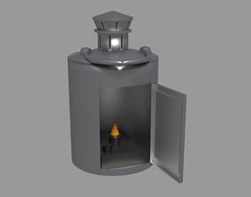 3D asset Candlelit Lamp