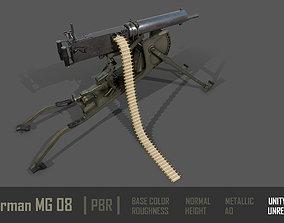 3D asset VR / AR ready German MG-08 Machine Gun