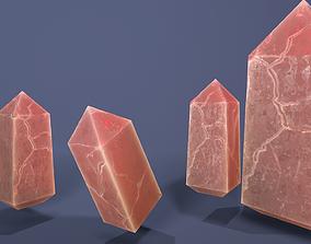 Salt Crystal 22 tris 3D asset