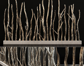 Planter wall branch crooked old n4 3D model