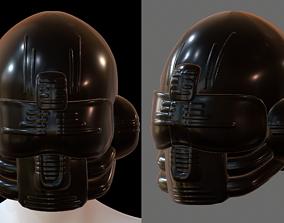 low-poly Gas mask PILOT helmet 3d model scifi Low-poly