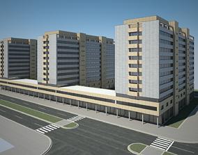 3D model architecture Apartment Building 01