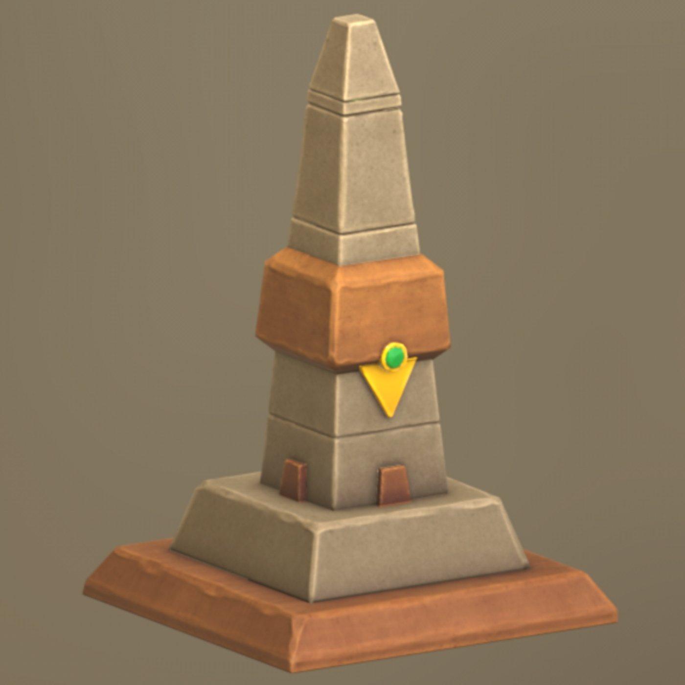 Lowpoly Egyptian Pillar