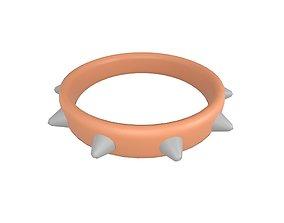 3D asset Spiked Collar v1 007
