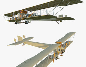 WWI Bomber Aircraft Sikorsky Ilya Muromets 3D model