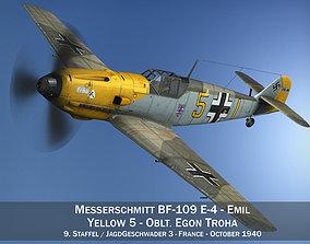 3D model Messerschmitt - BF-109 E - Yellow 5