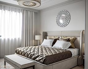 Interior Neoclassic Bedroom 04 3D model