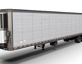3D asset Refrigerated van trailer