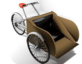 Rickshaw - front-driver 3D model