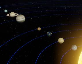 3D model Solar System Blender Scene Animated