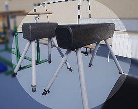 Free PBR Gym Horse 3D asset