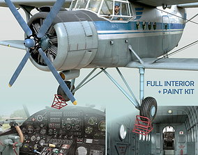Antonov An-2T 3D animated