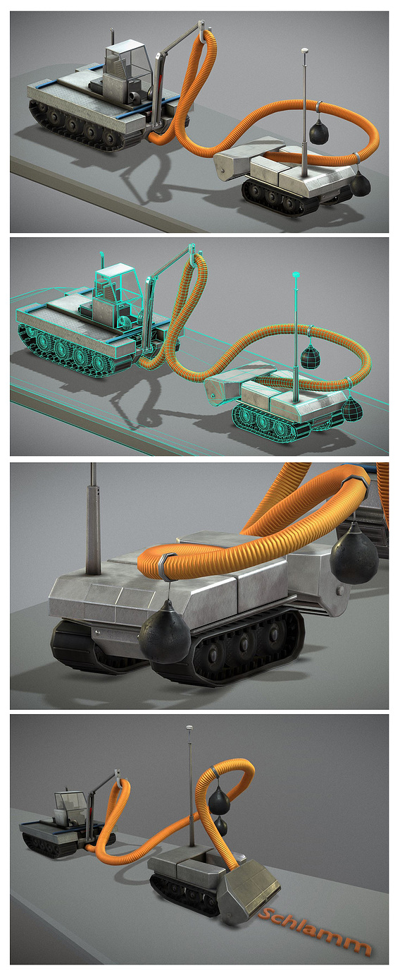 Desludging robot for waters and ponds