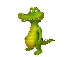 3D Crocodile Cartoon