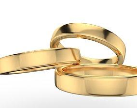 3D printable model Pack 55 Simple wedding ring