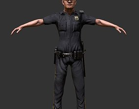 3D asset Police Officer Game Ready