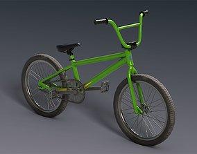 BMX bicycle 3D model low-poly