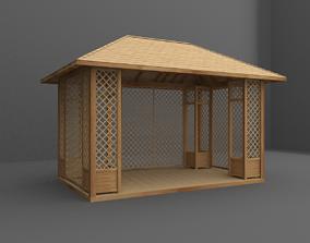 gazebo 3D model seating