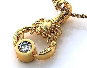 Scorpion diamond Pendant Model