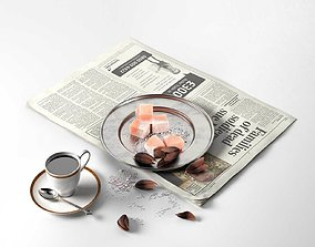 Coffee and the Newspaper newspaper 3D
