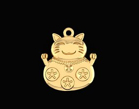 3D print model Lucky cat charm pendants