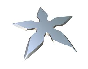 Shuriken 3D printable model warrior