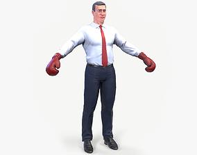 3D asset Klitschko boxer caricature