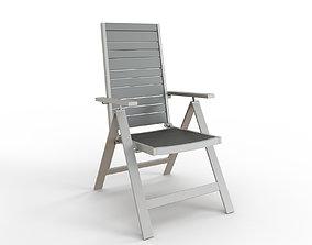 SJALLAND Reclining chair outdoor light gray 3D model 2