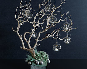 3D model Decor branch and christmas toy